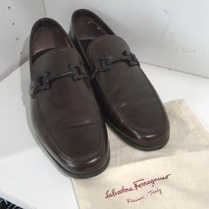 Brown leather Salvatore Ferragamo men's shoes